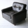 Vintage Brown Leather Chair by Vatne Mobler1