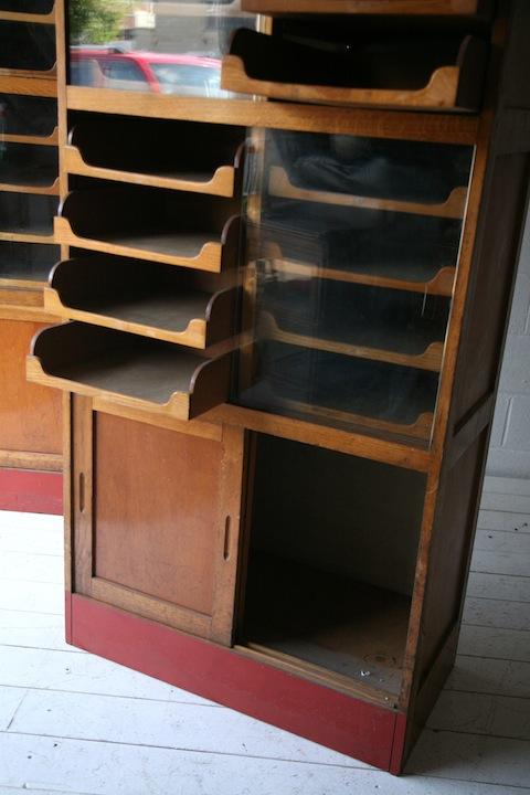 Vintage Haberdashery Cabinet Cream And Chrome