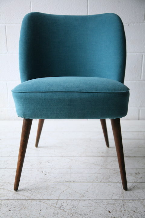 1950s Blue Side Chair by Casala