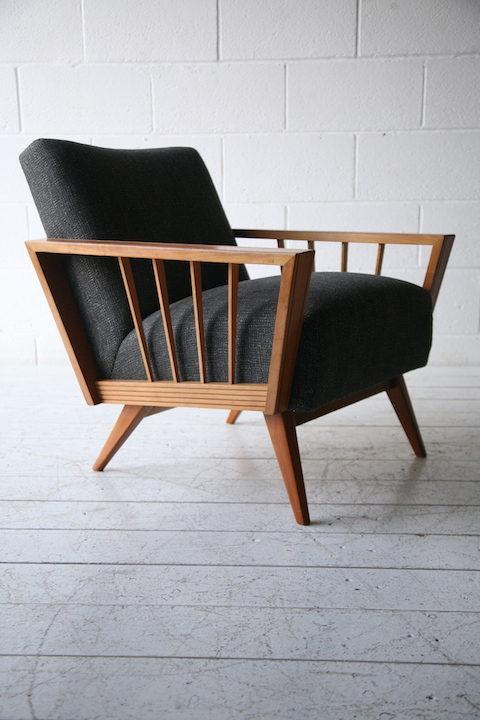 1950s angular armchair