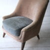 Cream and Blue 1950s Chair
