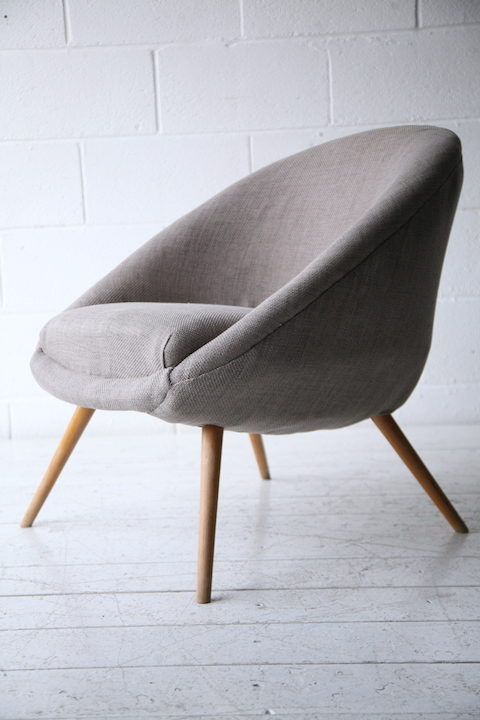 Grey 1950s Side Chair1