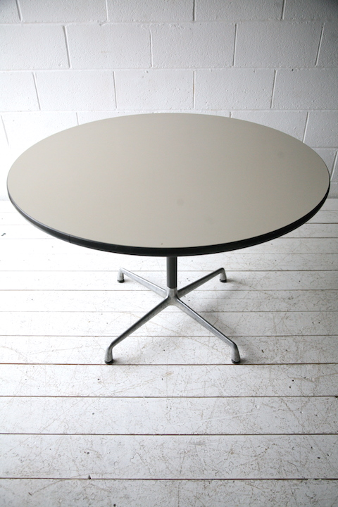 Vintage herman miller action office round table cream for 10 table cream