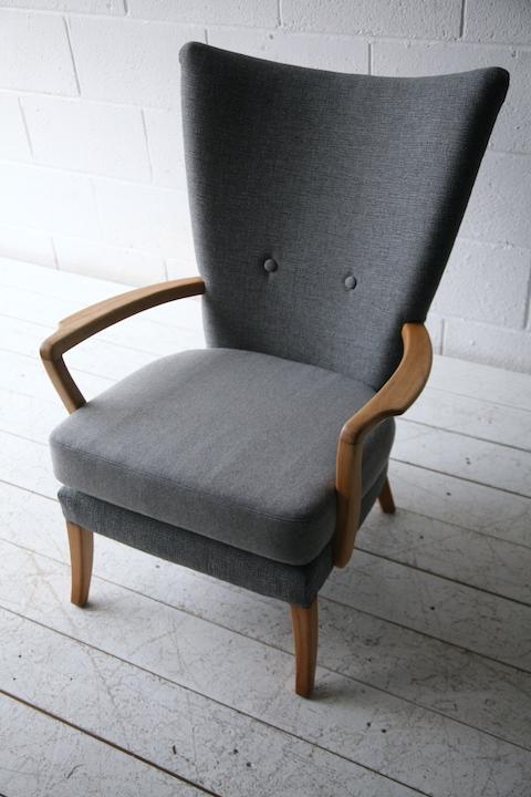 1950s Armchair By Howard Keith Cream And Chrome