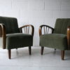 Pair of 1950s Green Armchairs3