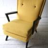 1950s Yellow Black Armchair 1