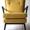 1950s Yellow Black Armchair 3