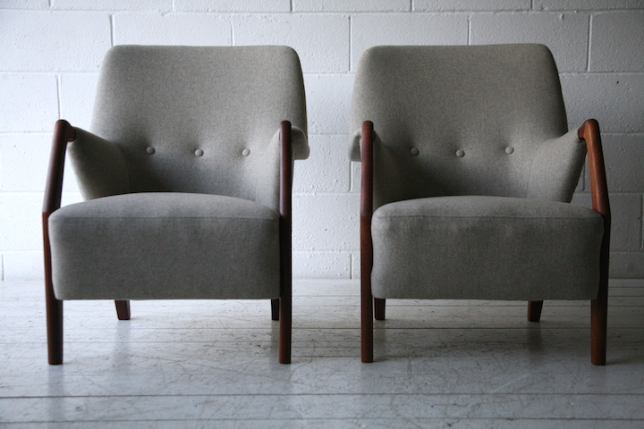 ... Pair Of 1950s Scandinavian Teak Armchairs 2 ...