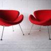 Pair of Orange Slice Chairs by Pierre Paulin for Artifort 1