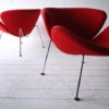 Pair of Orange Slice Chairs by Pierre Paulin for Artifort 2