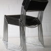 Set of 1970s Chrome Rubber Weave Stacking Chairs