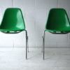 Vintage Charles Eames Green Shell Chairs for Herman Miller 1