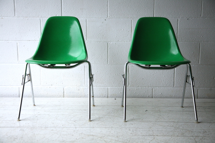 Shell Chairs by Charles Eames for Herman Miller  Cream