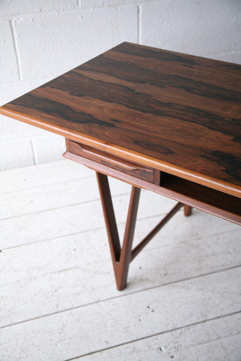 Vintage Rosewood Coffee Table by E.W. Bach 4