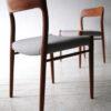 Vintage Teak Model 75 Chairs by Niels Moller