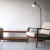 1950s Black & White Floor Lamp