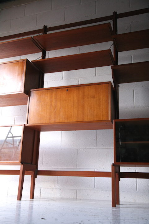 Large Modular Teak Shelving Unit 4