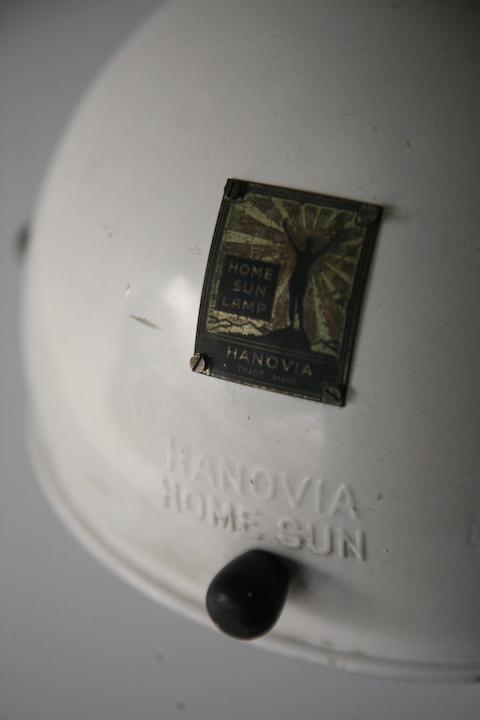 1950s Heat Lamp By Hanovia Cream And Chrome
