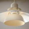 White 70s Ceiling Light