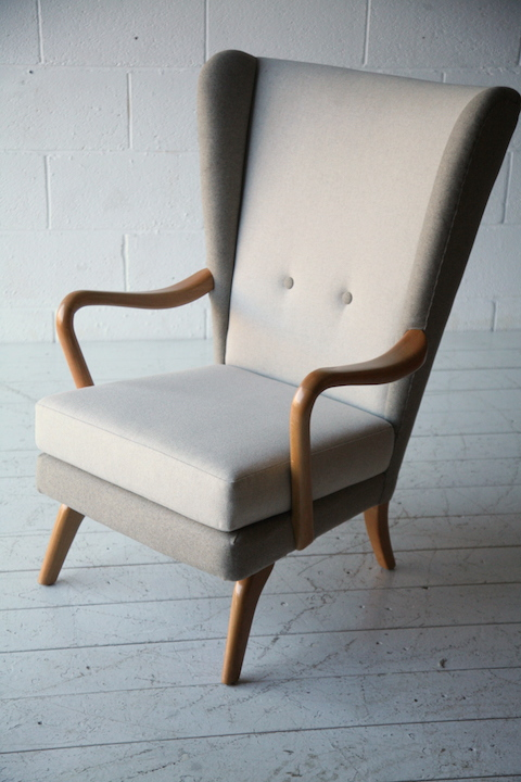 1950s Chair By Howard Keith Cream And Chrome