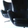 1960s Black Vinyl Swivel Chairs 1