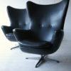 1960s Black Vinyl Swivel Chairs 3