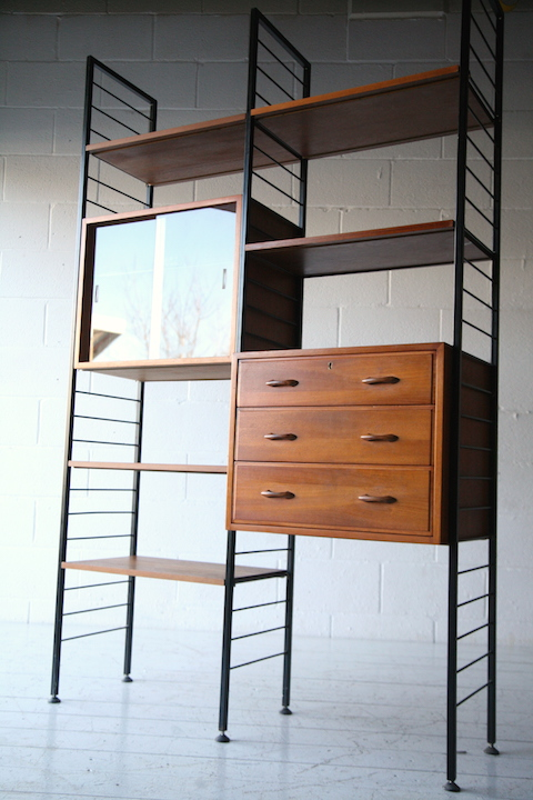 1960s Ladderax Room Divider Cream And Chrome