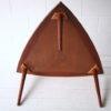 1960s Large Danish Teak Triangular Coffee Table 6