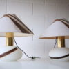 1970s Glass Table Lamps 1