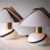 1970s Glass Table Lamps