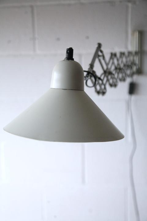 1970s Scissor Wall Lamp Cream and Chrome