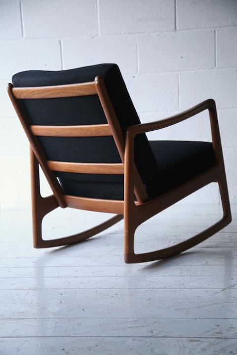 Prime Danish Teak Rocking Chair By Ole Wanscher Cream And Chrome Unemploymentrelief Wooden Chair Designs For Living Room Unemploymentrelieforg