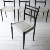 1950s Black White G Plan Dining Chairs