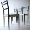 1950s Black White G Plan Dining Chairs 3