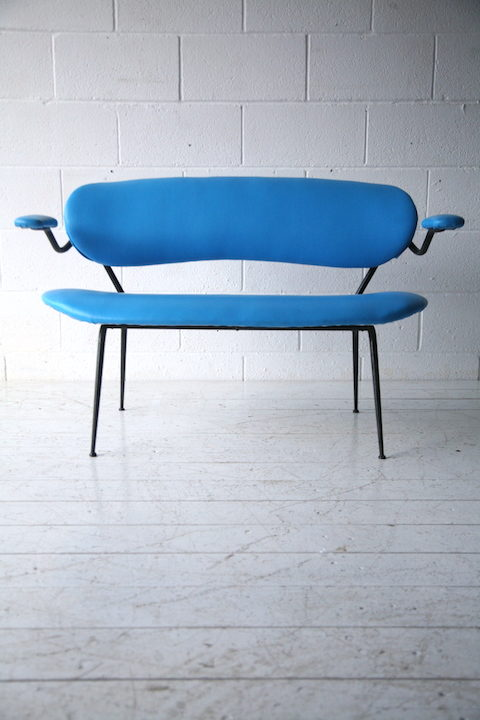 1950s Blue Bench 2