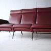 1950s Italian Red Vinyl Sofa 1