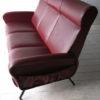 1950s Italian Red Vinyl Sofa