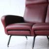1950s Italian Red Vinyl Sofa 2