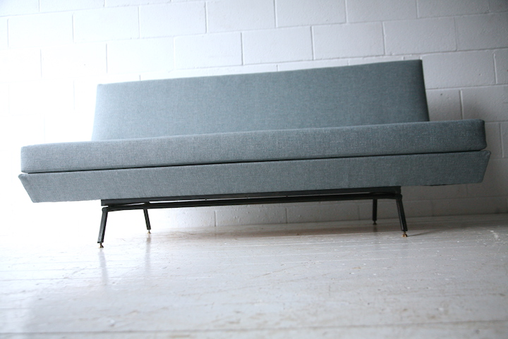 1950s Sofabed Cream And Chrome