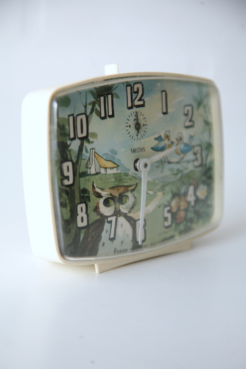 1950s Alarm Clock By Smiths Cream And Chrome