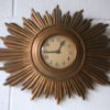 1950s Sunburst Wall Clock 2