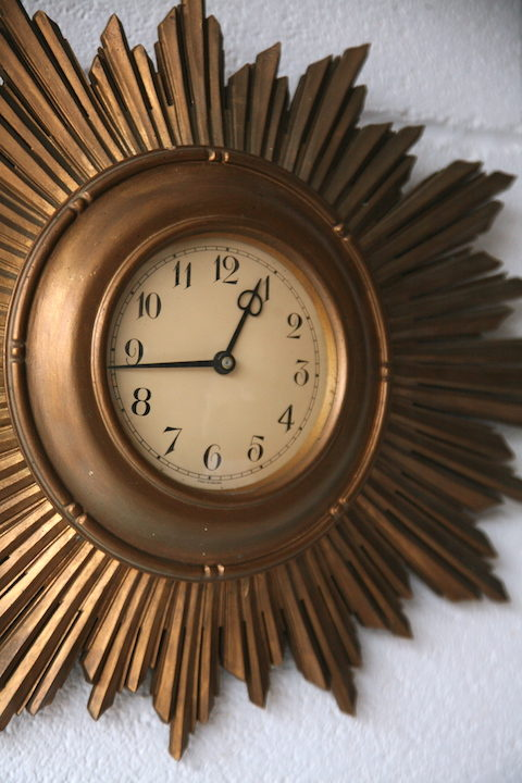 1950s Sunburst Wall Clock