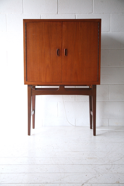 1960s Teak Drinks Cabinet | Cream and Chrome