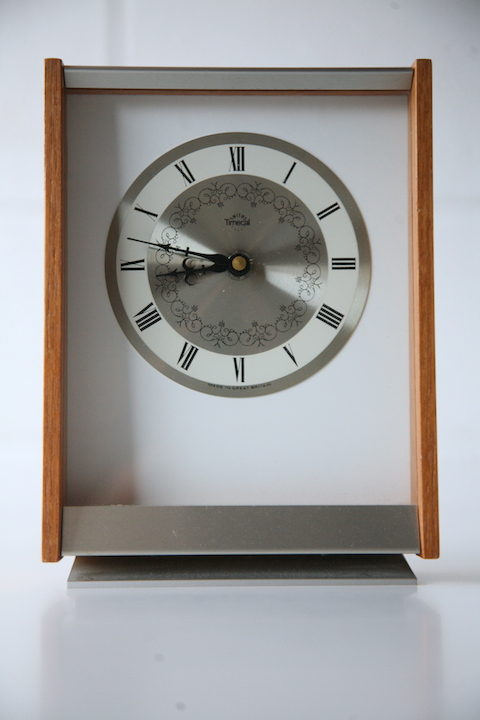 1960s Teak Timecal Clock by Smiths