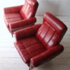 Pair of 1950s Red Vinyl Armchairs 2