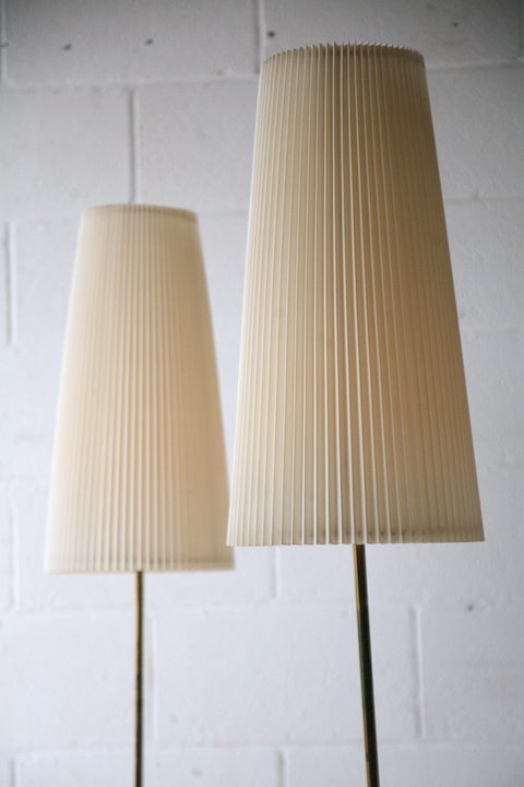 Pair of 1960s Pleated Floor Lamps 4