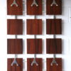 Vintage 1960s Rosewood and Chrome Coat Rack