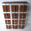 Vintage 1960s Rosewood and Chrome Coat Rack 3