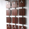 Vintage 1960s Rosewood and Chrome Coat Rack 4