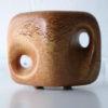 Vintage Bertoncello Vase in 'Tabacco' Glaze